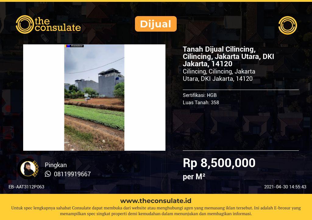 Tanah Dijual Cilincing, Cilincing, Jakarta Utara, DKI Jakarta, 14120