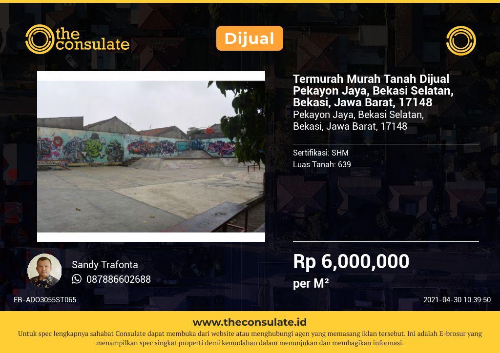 Termurah Murah Tanah Dijual Pekayon Jaya, Bekasi Selatan, Bekasi, Jawa Barat, 17148